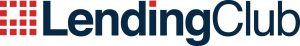 Navy blue and red logo for Lending Club